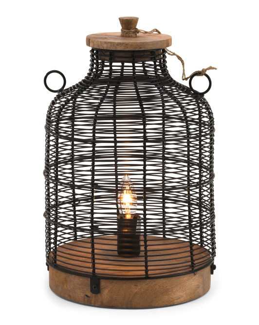 HANDCRAFTED IN INDIA Mixed Media Uplight $49.99