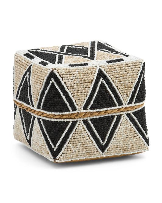 Medium Diamond Bamboo Beaded Box $19.99 https://fave.co/3zPgm4v