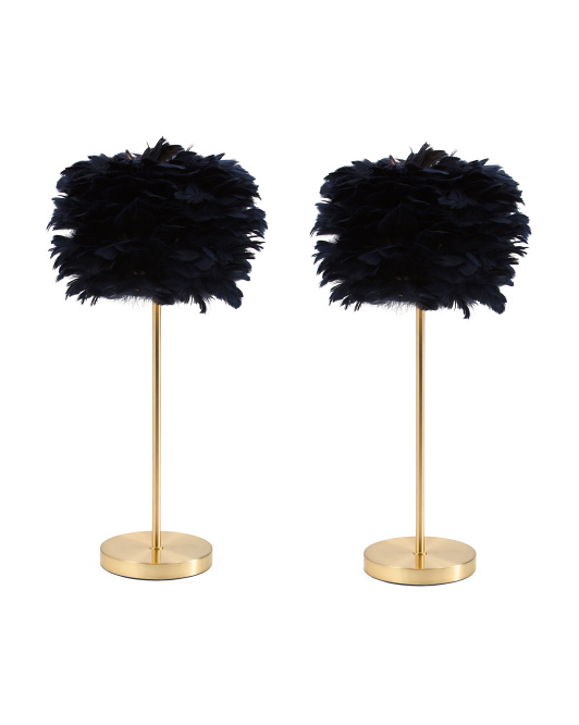 THRO Set Of 2 Feather Lamps $99.99