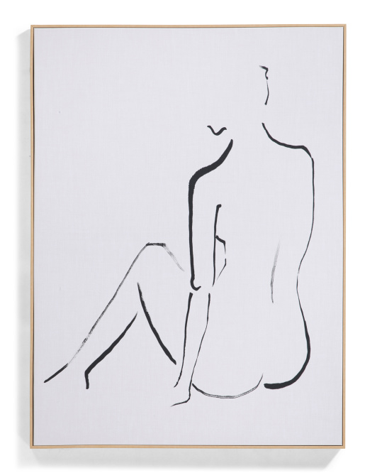 MIDDLE OF NOWHERE 30x40 Sitting Sketch Canvas Hanging Wall Art $59.99