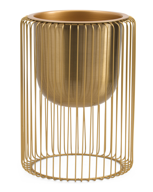 EXOTIC INDIA 14in Wire Stand Planter $19.99