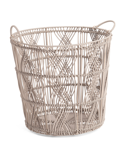 HANDCRAFTED IN VIETNAM X-large Round Basket With Handles $29.99