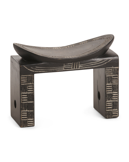 GLOBAL NC Made In Africa Carved Odekyem Stool $79.99