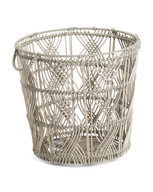 HANDCRAFTED IN VIETNAM Large Round Basket $24.99