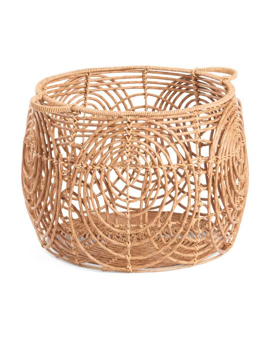 HANDCRAFTED IN VIETNAM Xxl Round Basket With Handles $34.99