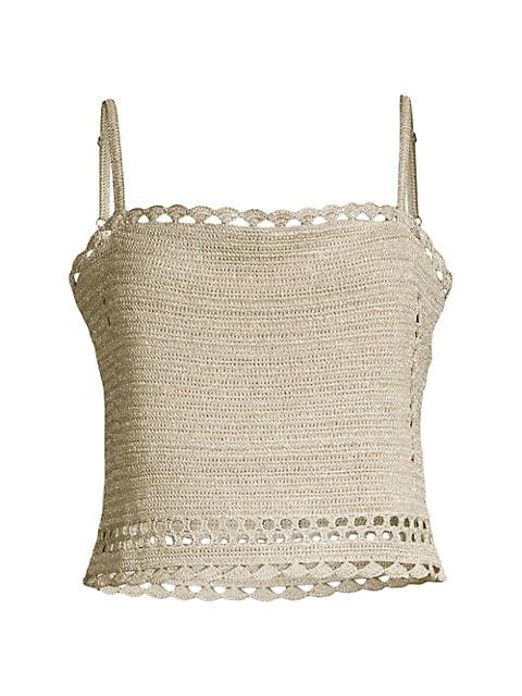 Suboo Pia Crochet Crop Top $200