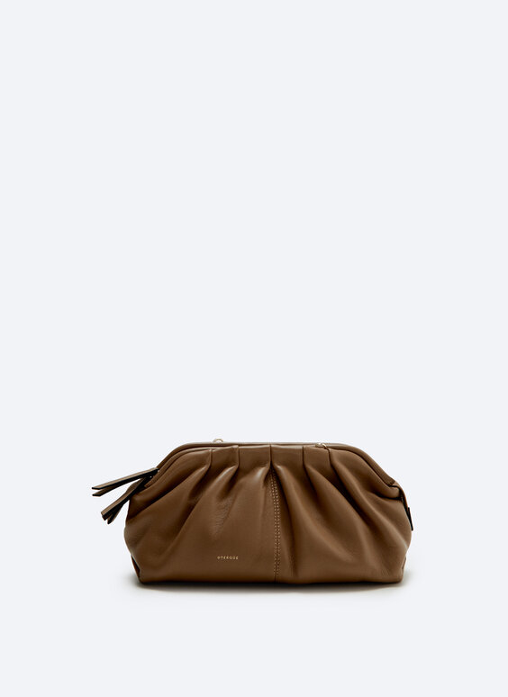 GATHERED LEATHER BAG $185.00