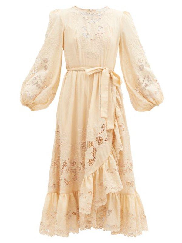 ZIMMERMANN Lulu balloon-sleeve broderie-anglaise cotton dress $1,350