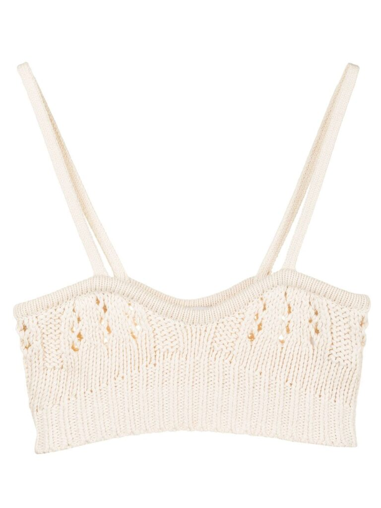 Goen.J crochet-knit bra $286