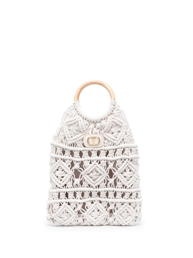 TWINSET crochet tote bag $171