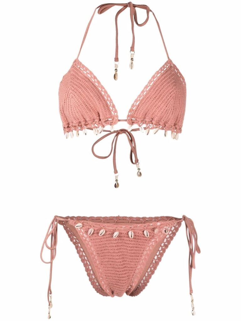 Zimmermann shell-embellished crochet bikini $300
