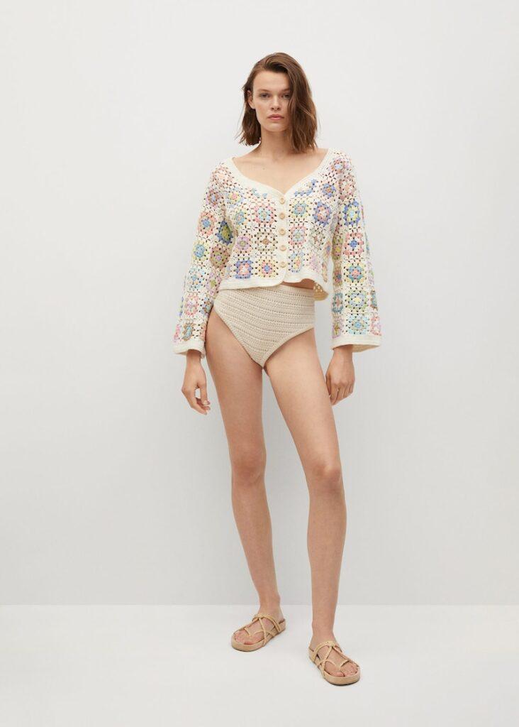 Cotton crochet cardigan $119.99