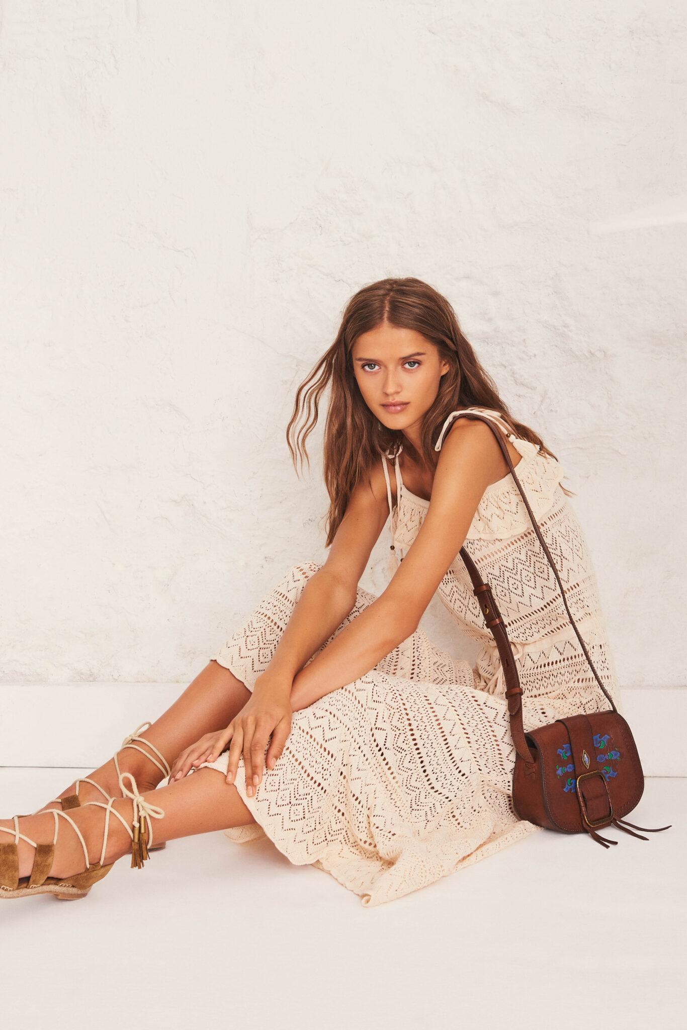 ba&sh Cal Crochet Lace Maxi Dress $395.00