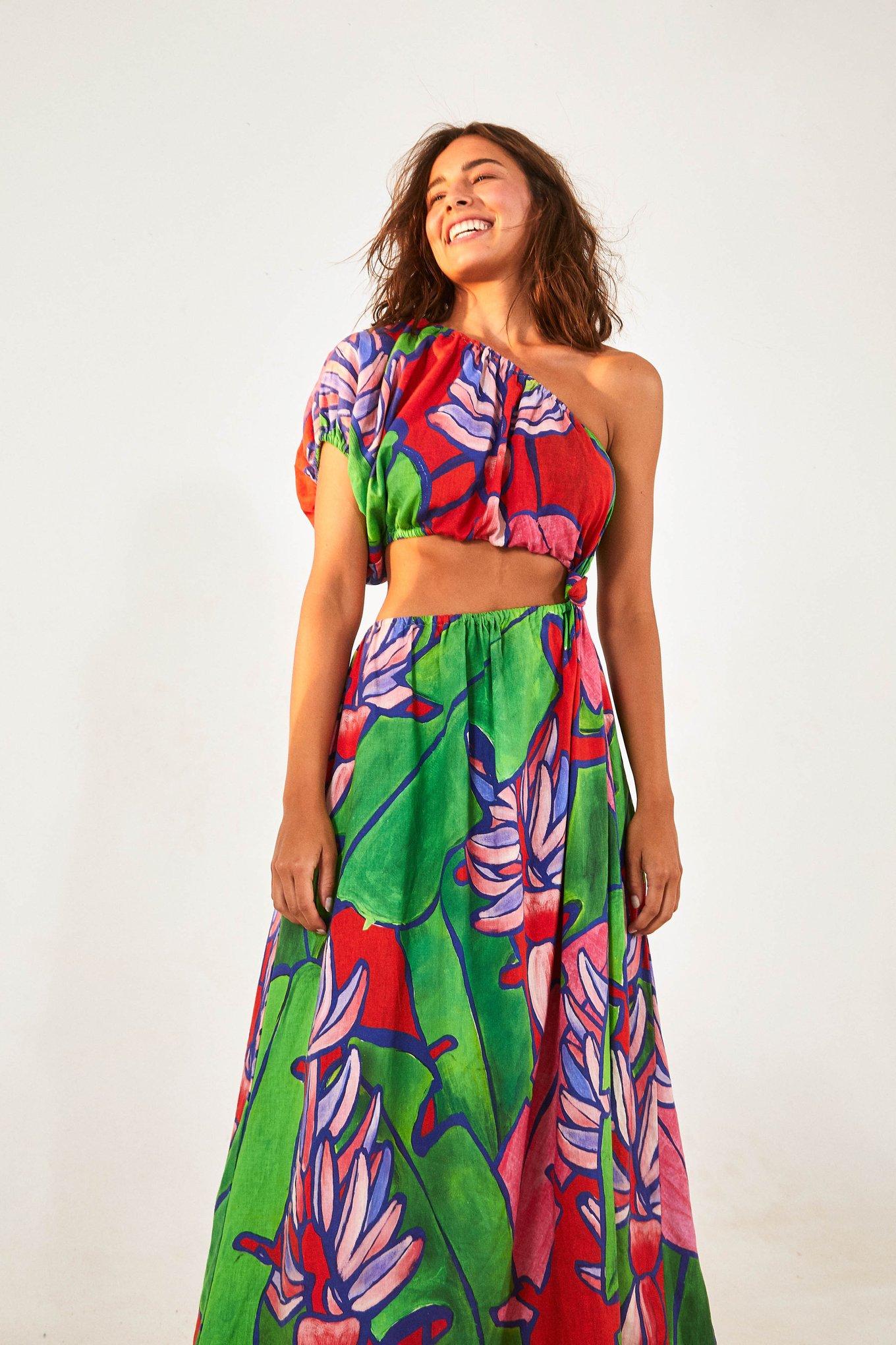 Tropical Bunch Open Waist Midi Dress $230