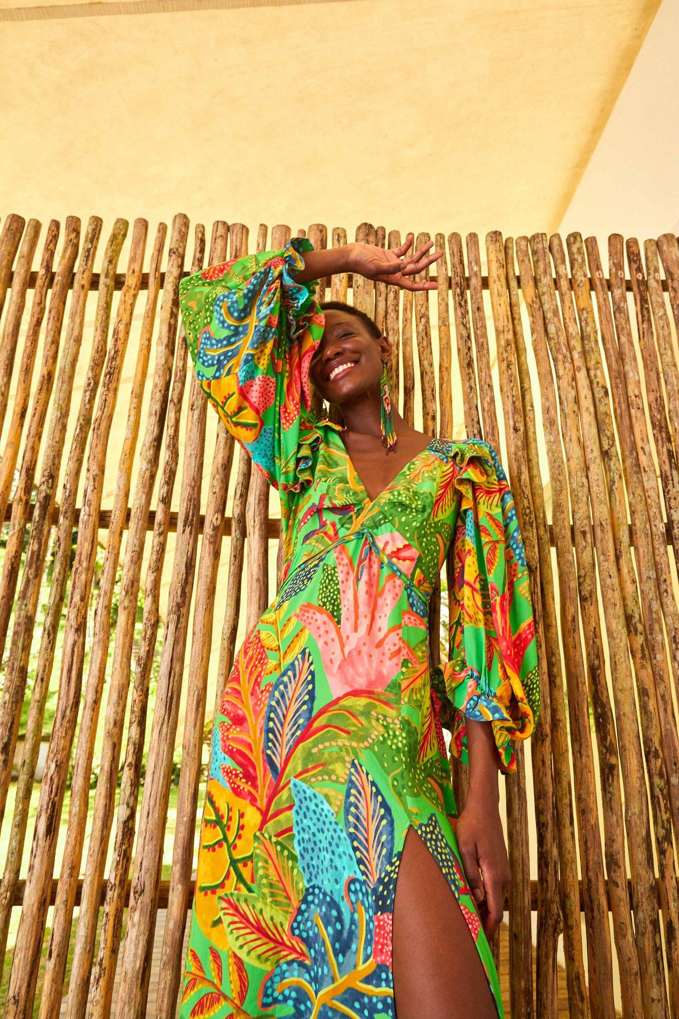 Forest Dream Slit Dress $195