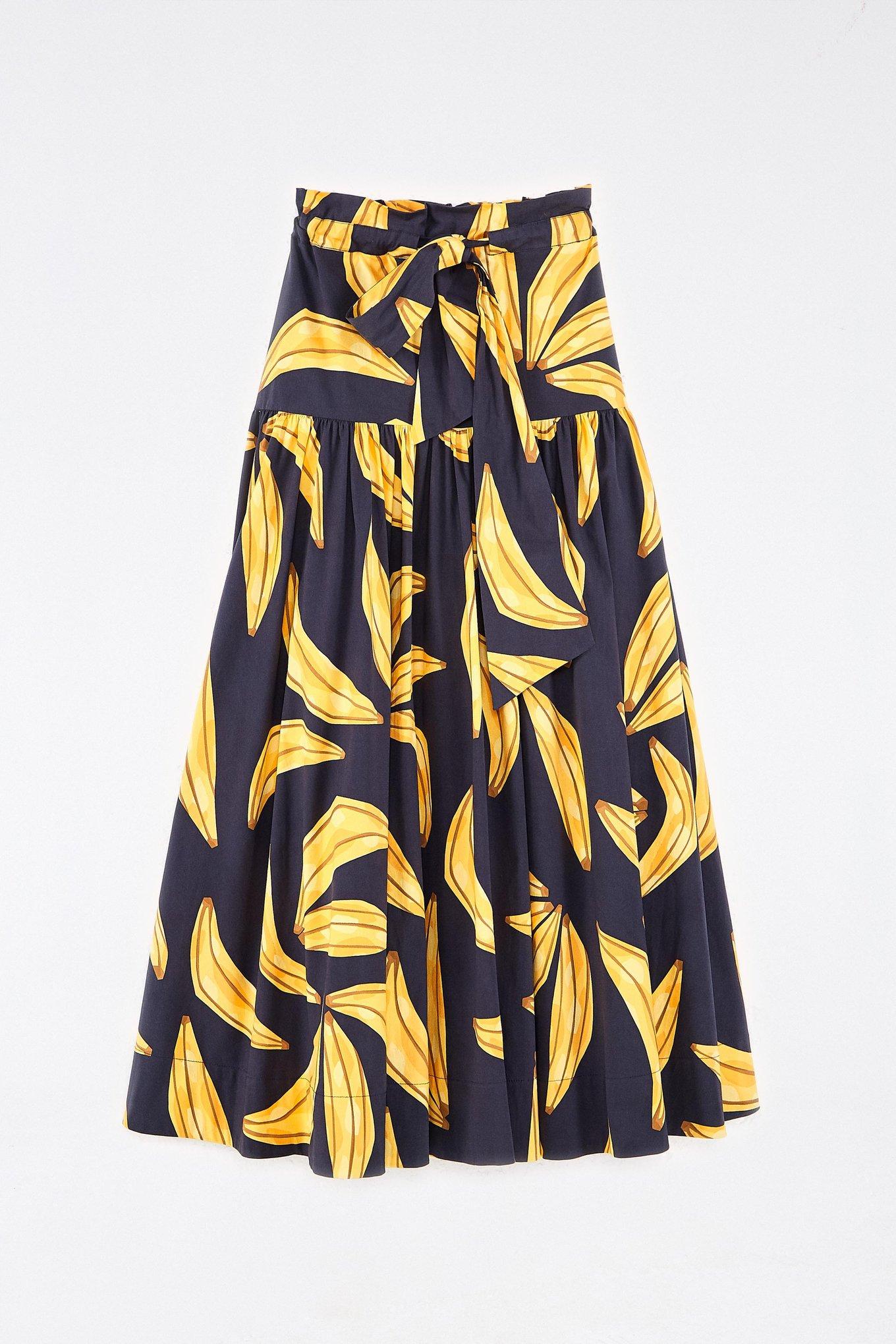 Ripe Bananas Paperbag Maxi Skirt $185