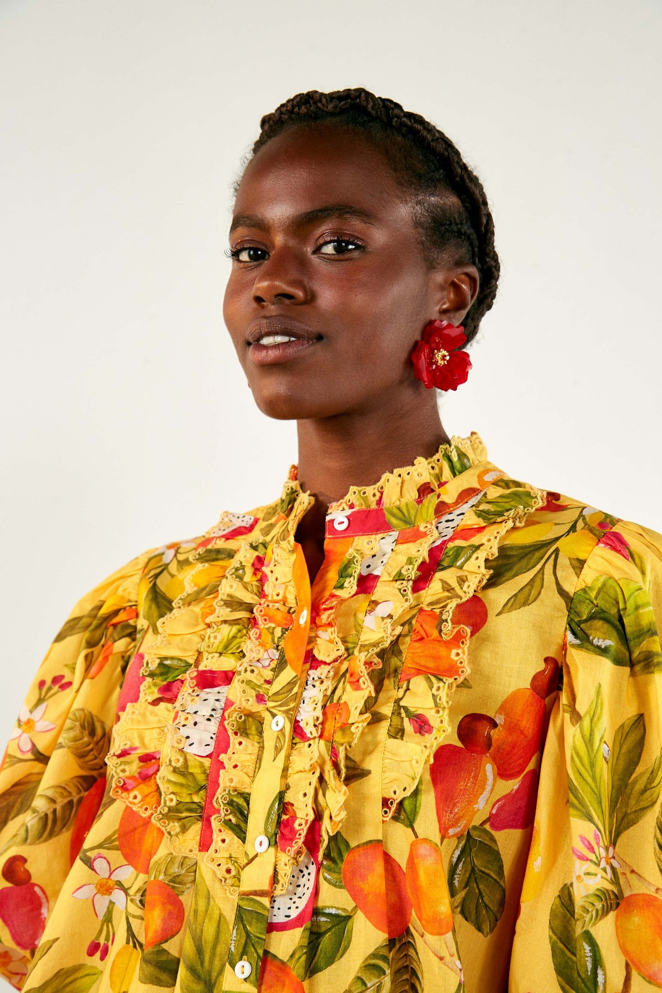 Fruit Lovers Frilled Shirt $175