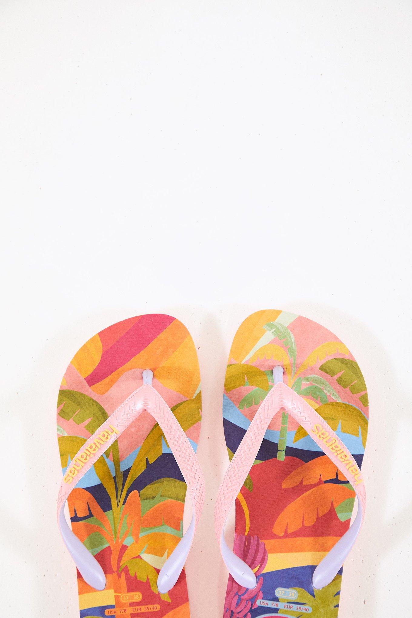 Tropical Sunset Havaianas Sandals $36