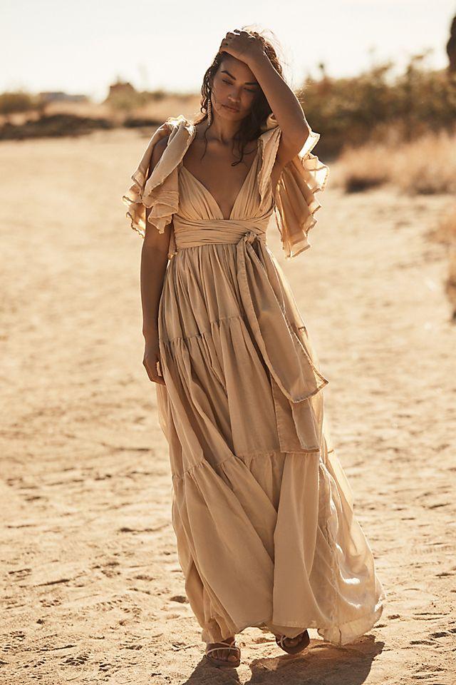 Erika Peña Vale Ruffled Maxi Dress $315.00