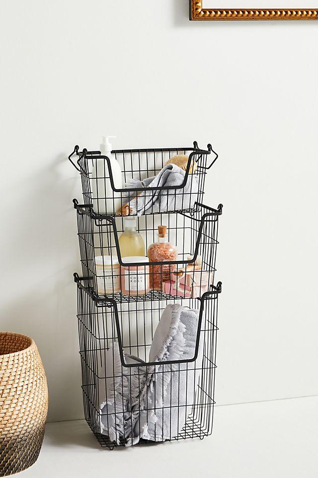 Barbra Stackable Wire Storage Bin $38.00 – $48.00