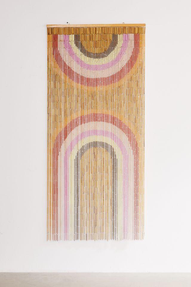 Rainbow Bamboo Beaded Curtain $59.00