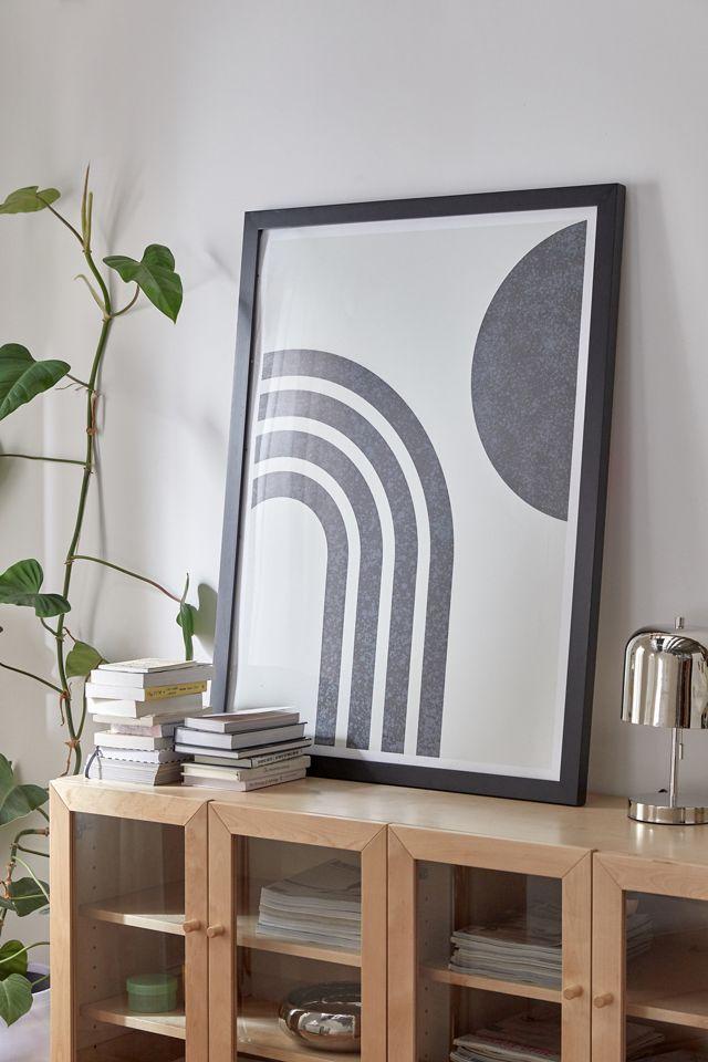 MoonlightPrint Mid-Cenetury Modern Rainbow BK Art Print $19.00 – $259.00