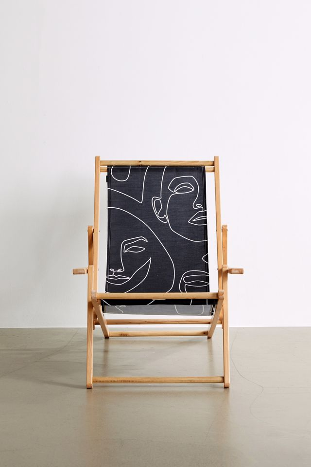 Explicit Design For Deny Faces In Dark Outdoor Folding Chair $149.00