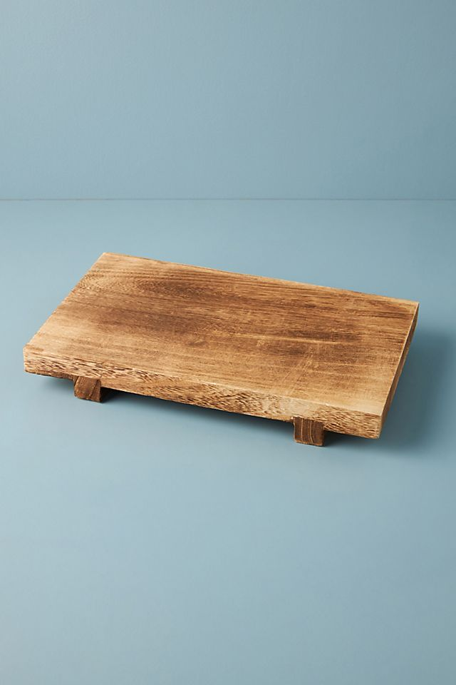 Paulownia Wood Pedestal Tray $36.00