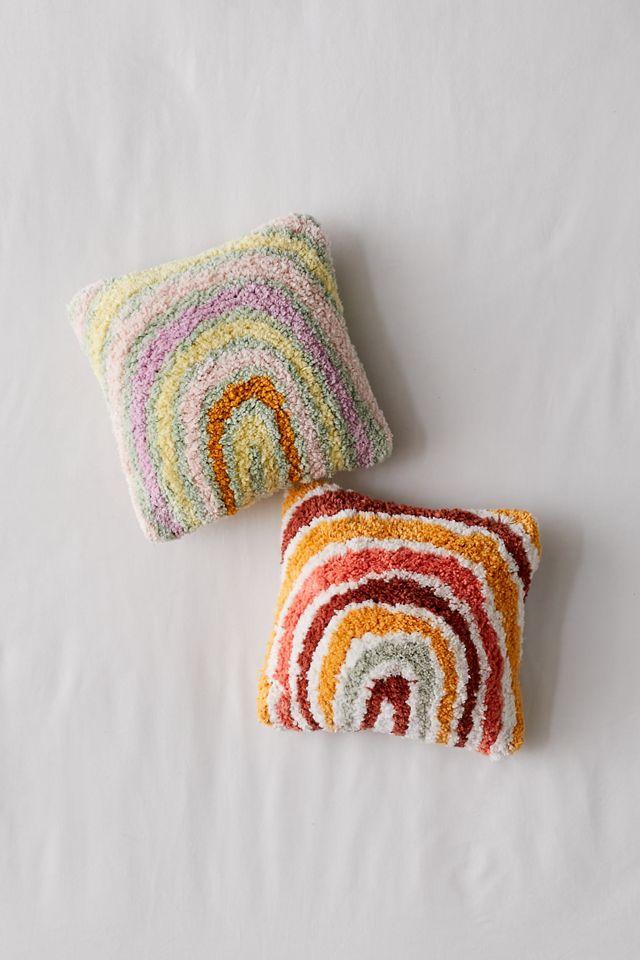 Rainbow Tufted Mini Throw Pillow $29.00