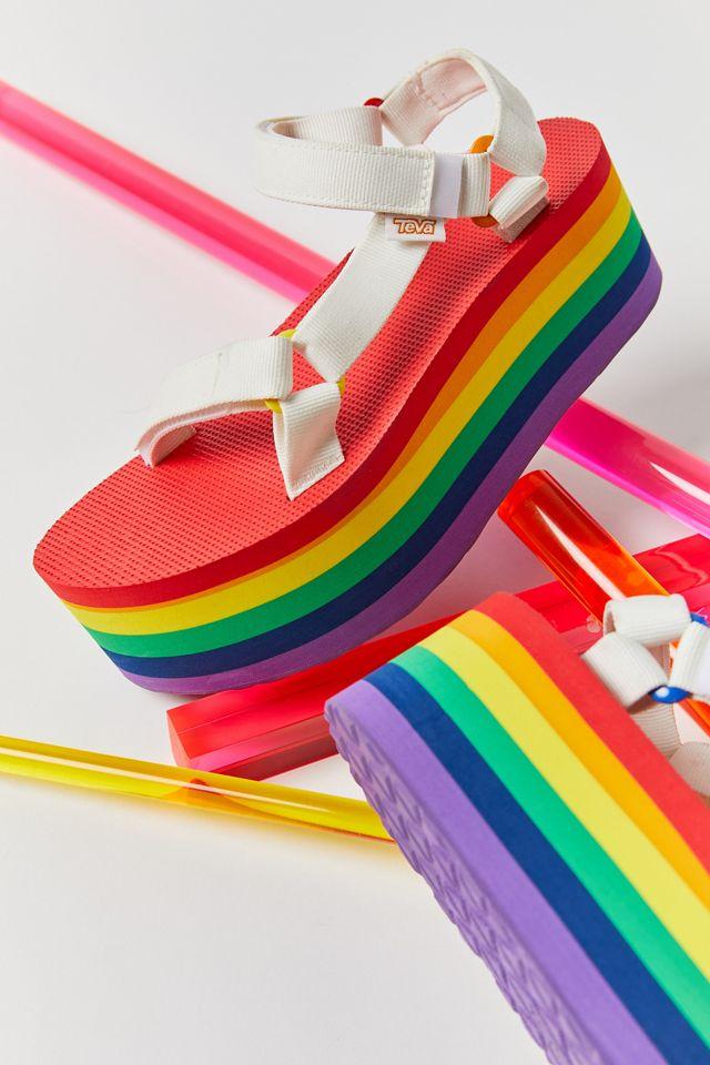 Teva Universal Rainbow Pride Flatform Sandal $70.00