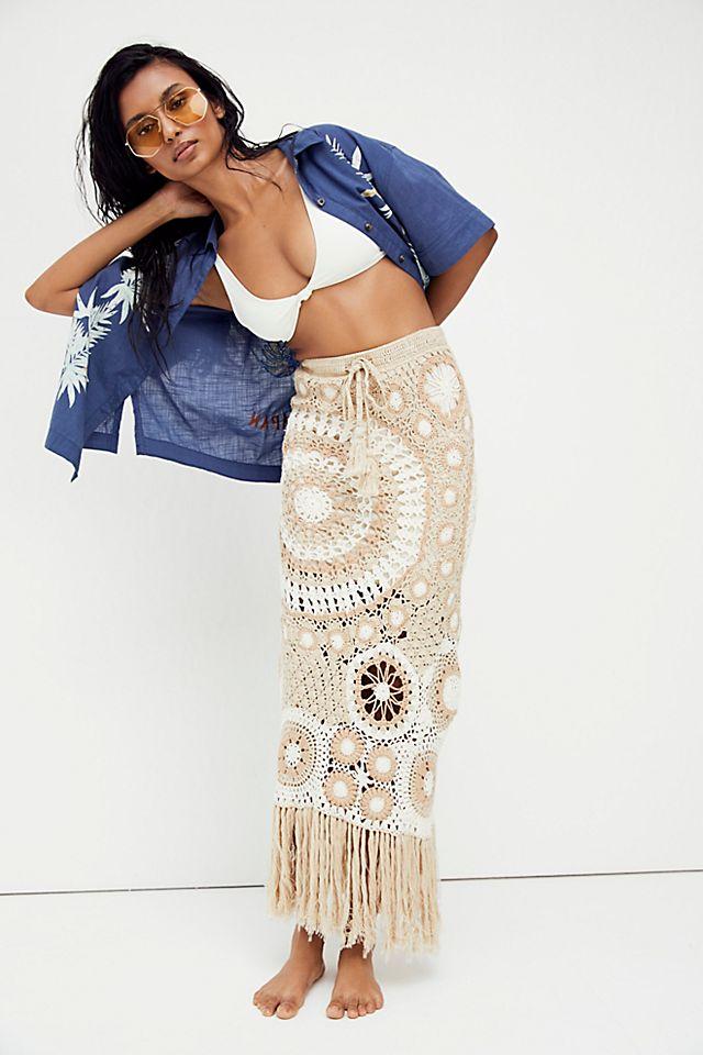 Natalia Pieced Crochet Skirt $174.00