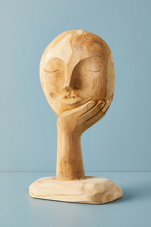 Visage Sculpture Decorative Object $48.00