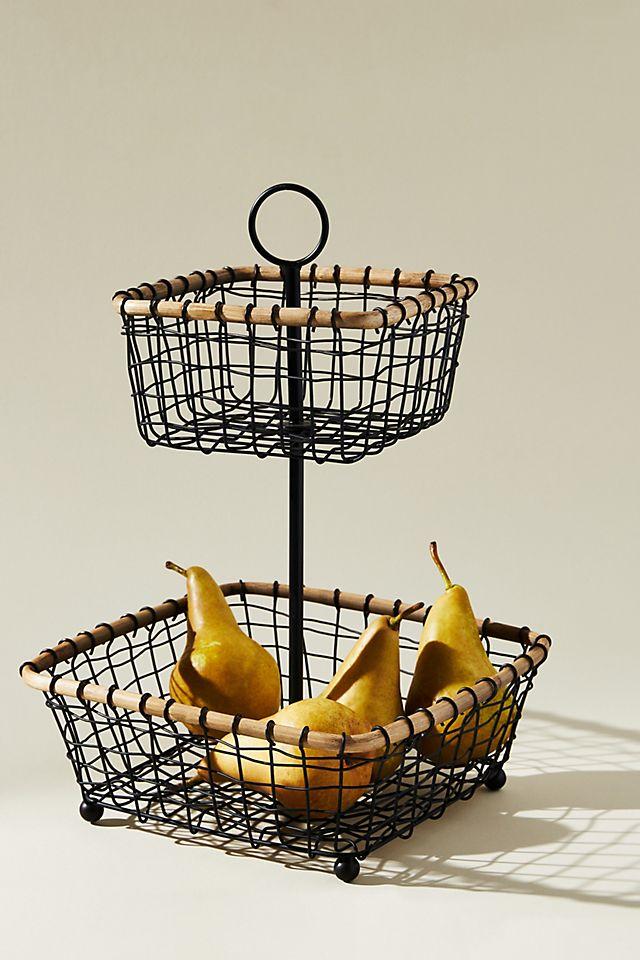 Wire Tiered Fruit Basket $98.00