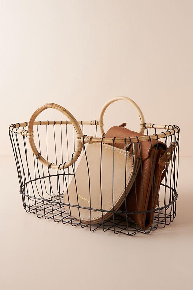 Cane Wire Storage Basket $68.00