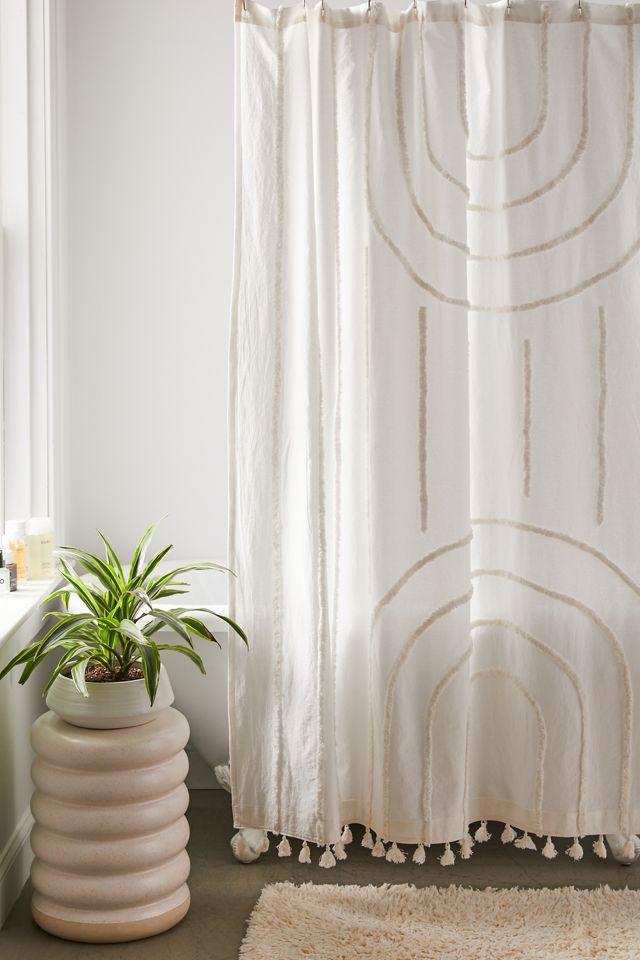 Modern Hilo Tufted Shower Curtain $59.00
