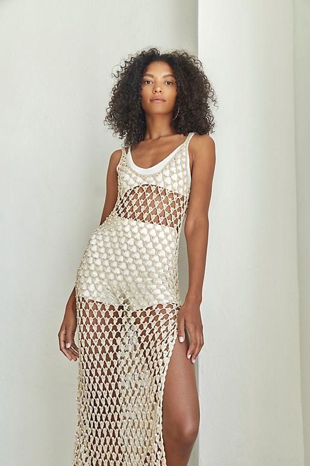 Crochet Beaded Dress $350.00