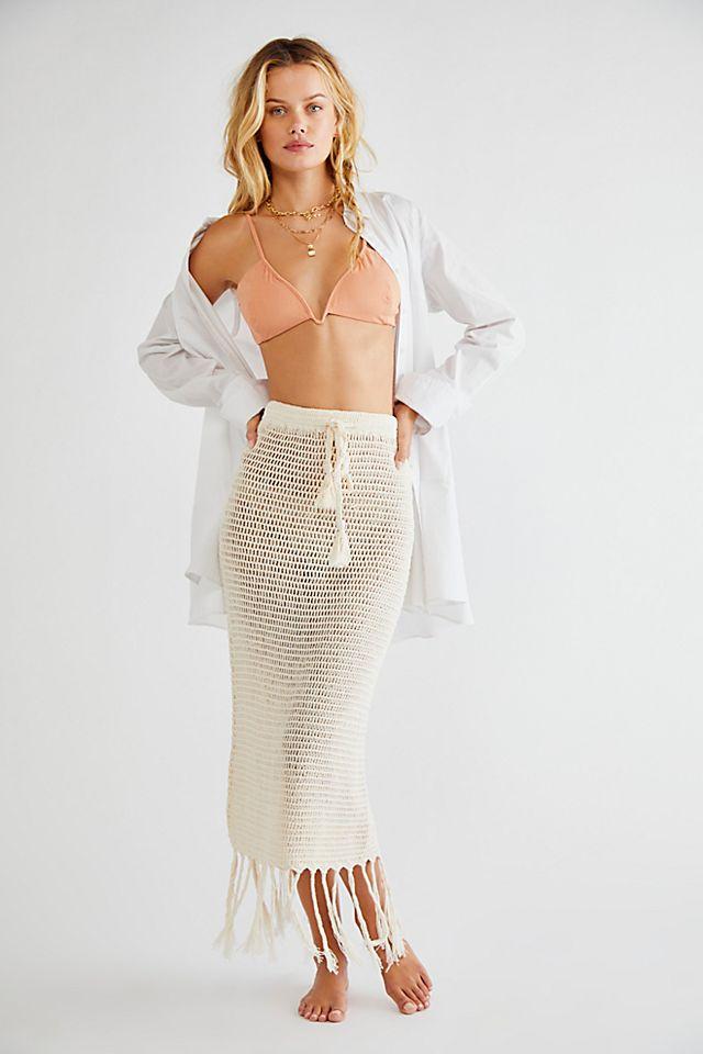 Brooke Tassel Crochet Skirt $150.00