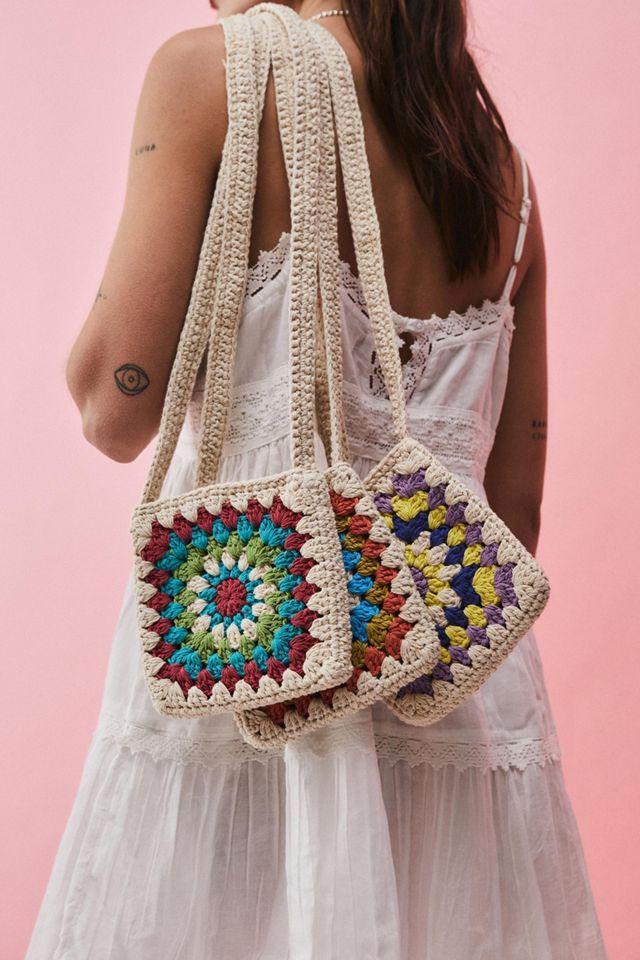 UO Square Crochet Crossbody Bag $29.00
