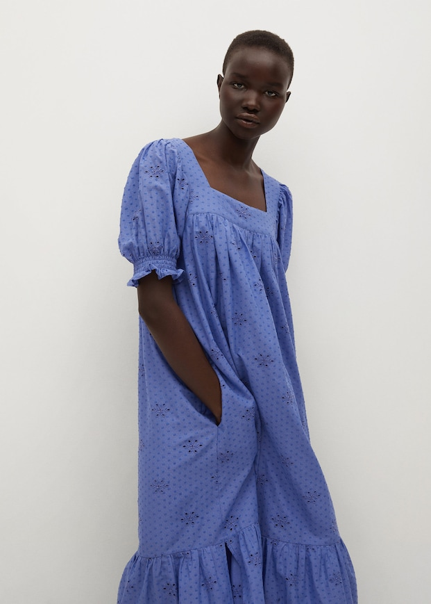 Broderie anglaise cotton maxi dress $79.99
