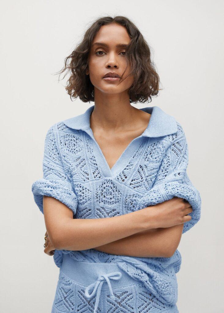 Oversize crochet sweater $39.99