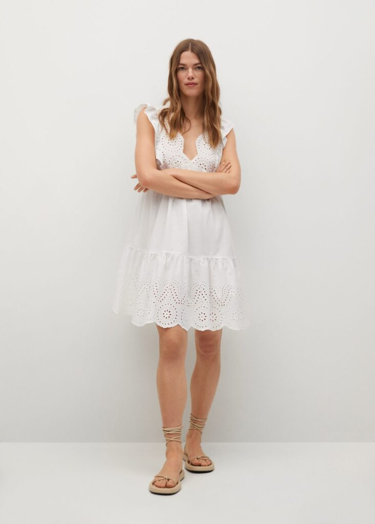 Broderie anglaise cotton dress $59.99