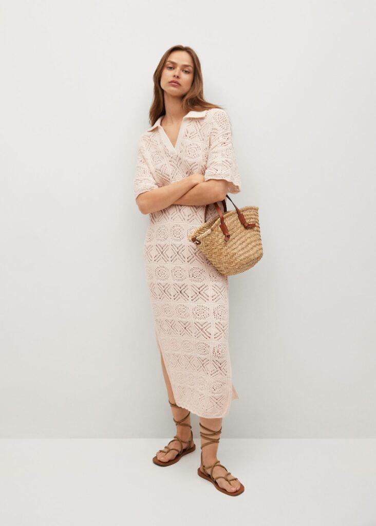 Crochet cotton dress $59.99
