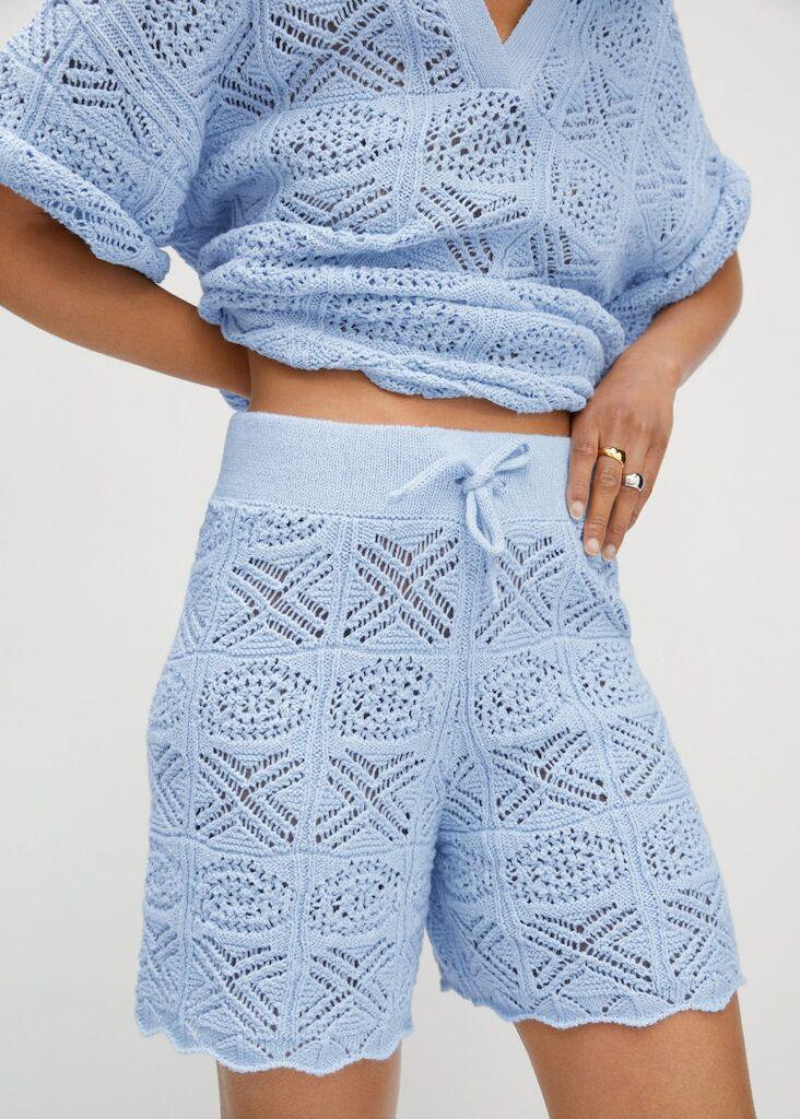 Cotton crochet shorts $29.99