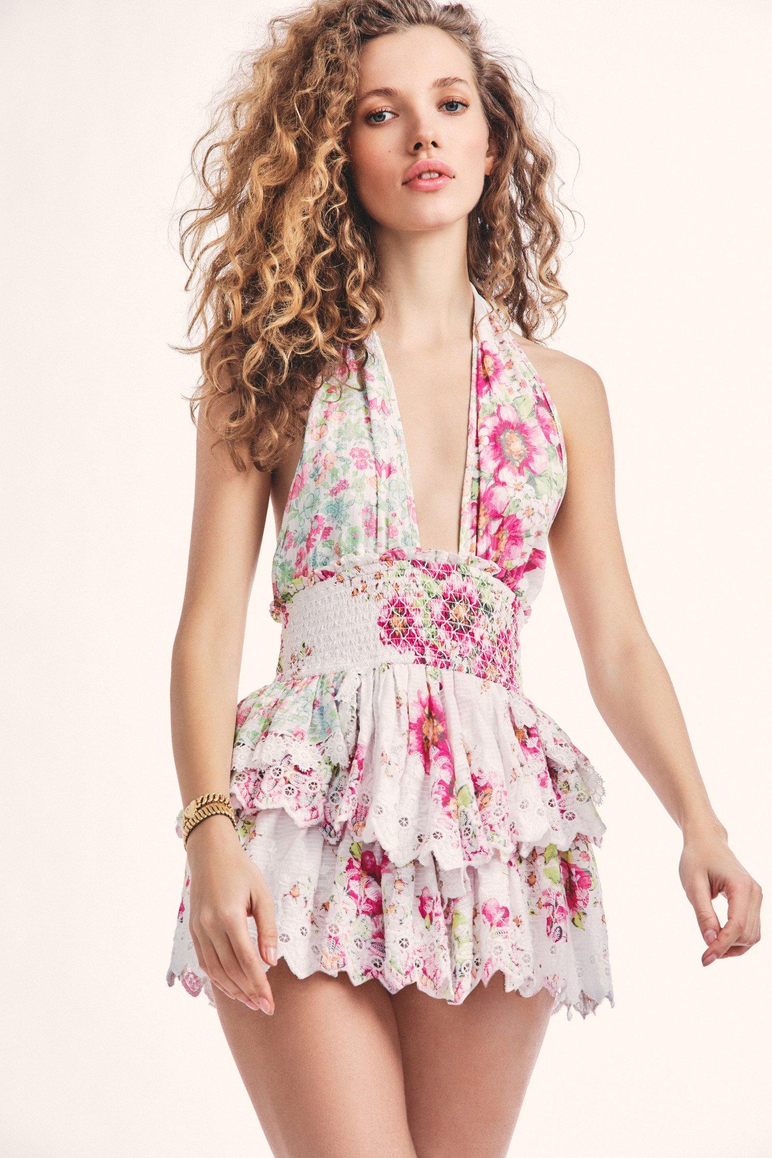 Deanna Halter Mini Dress $425