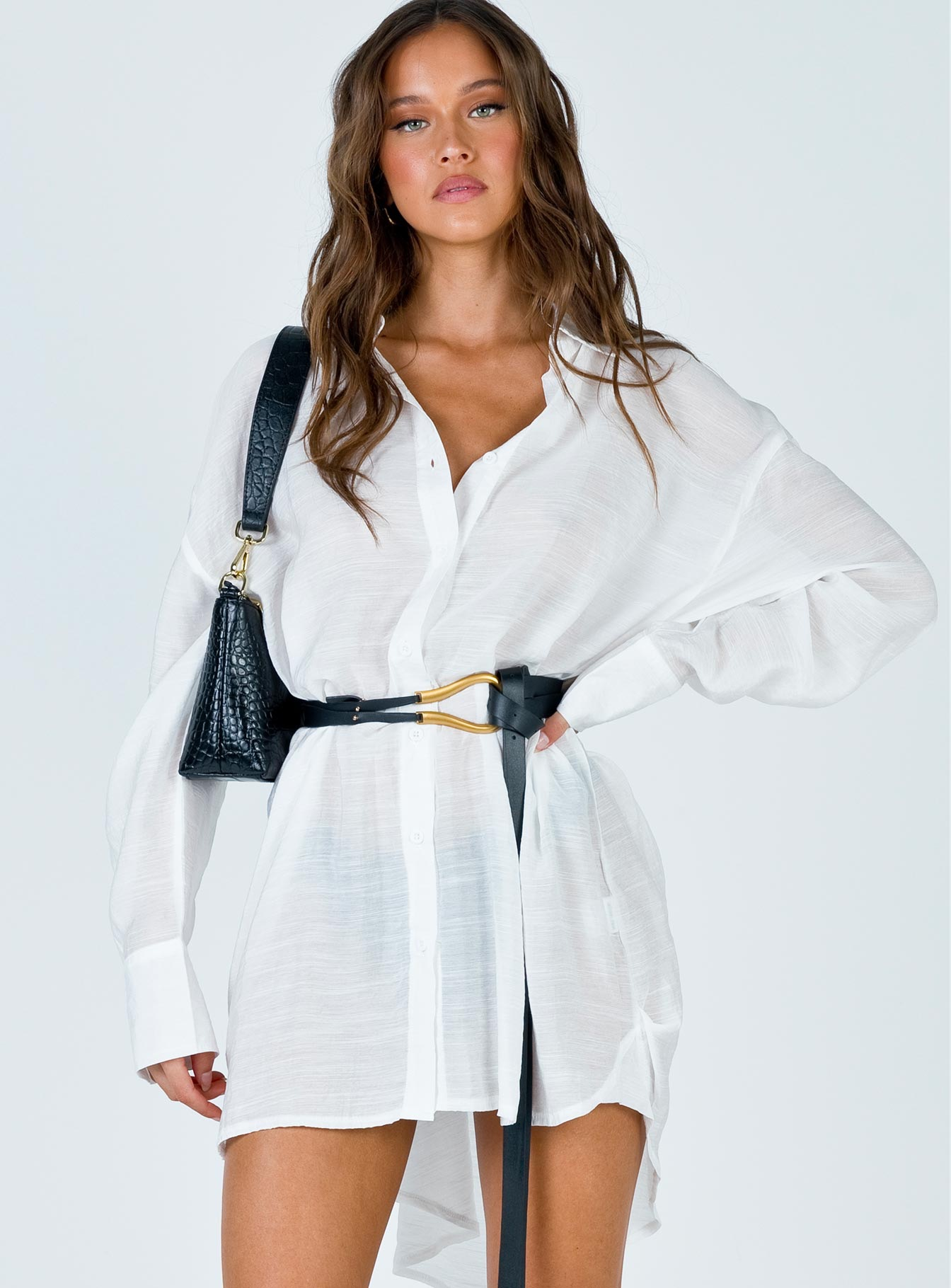 ANGIE MINI DRESS WHITE USD$42.00