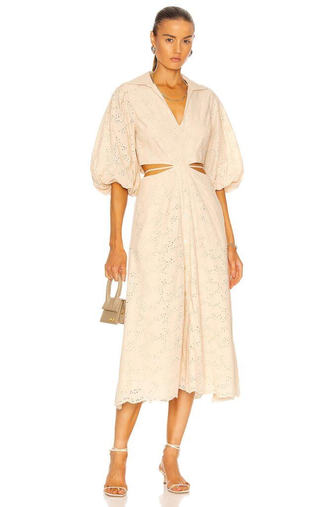 JONATHAN SIMKHAI Frida Wrap Midi Dress $545
