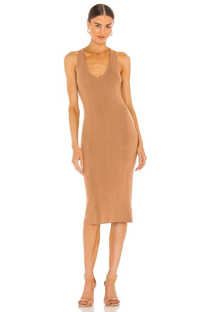 Josephine V Neck Knit Dress L\'AGENCE $290