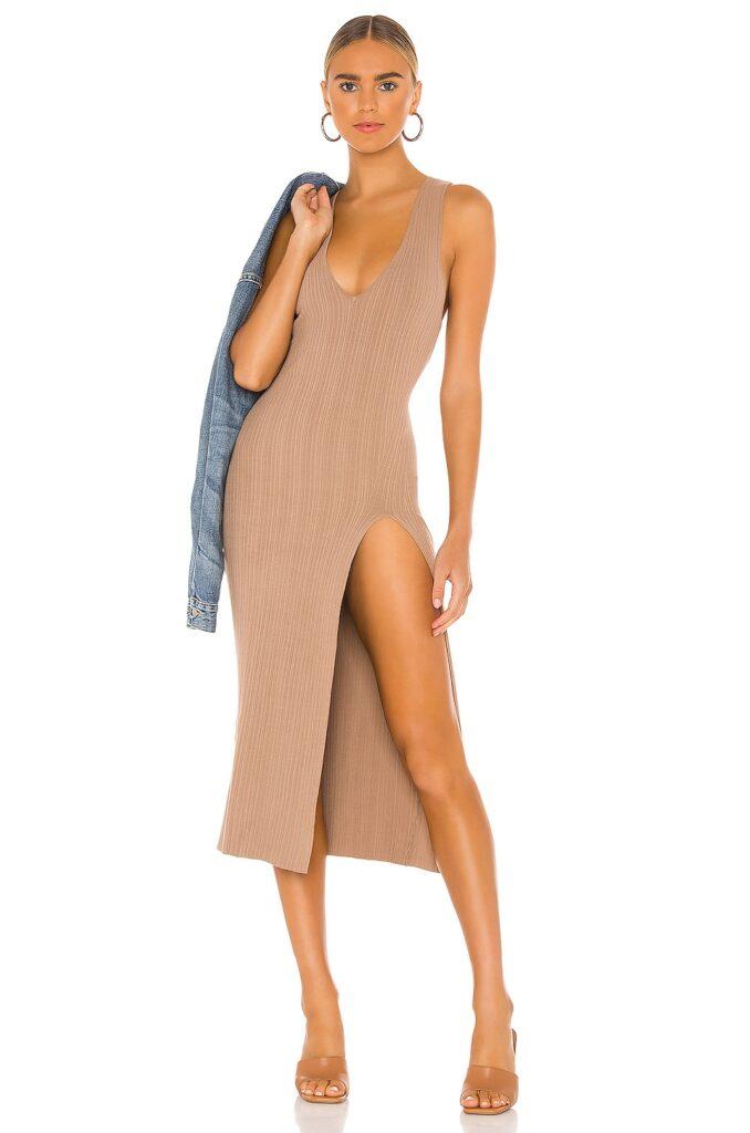 x REVOLVE Variegated Rib Bodycon Dress Michael Costello $198