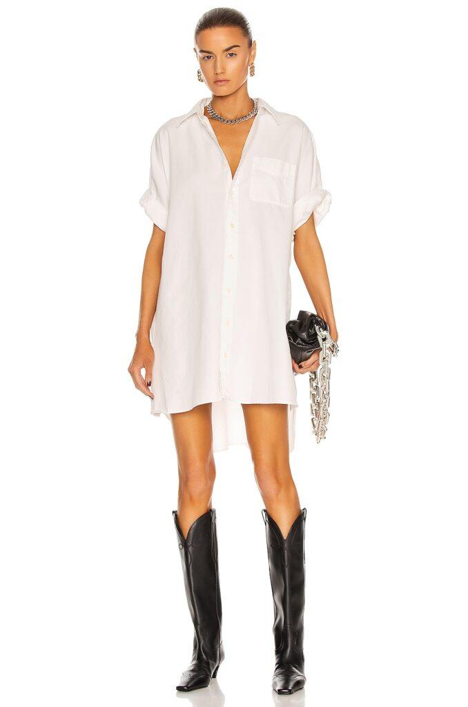 R13 Oversized Boxy Button Up Dress $450