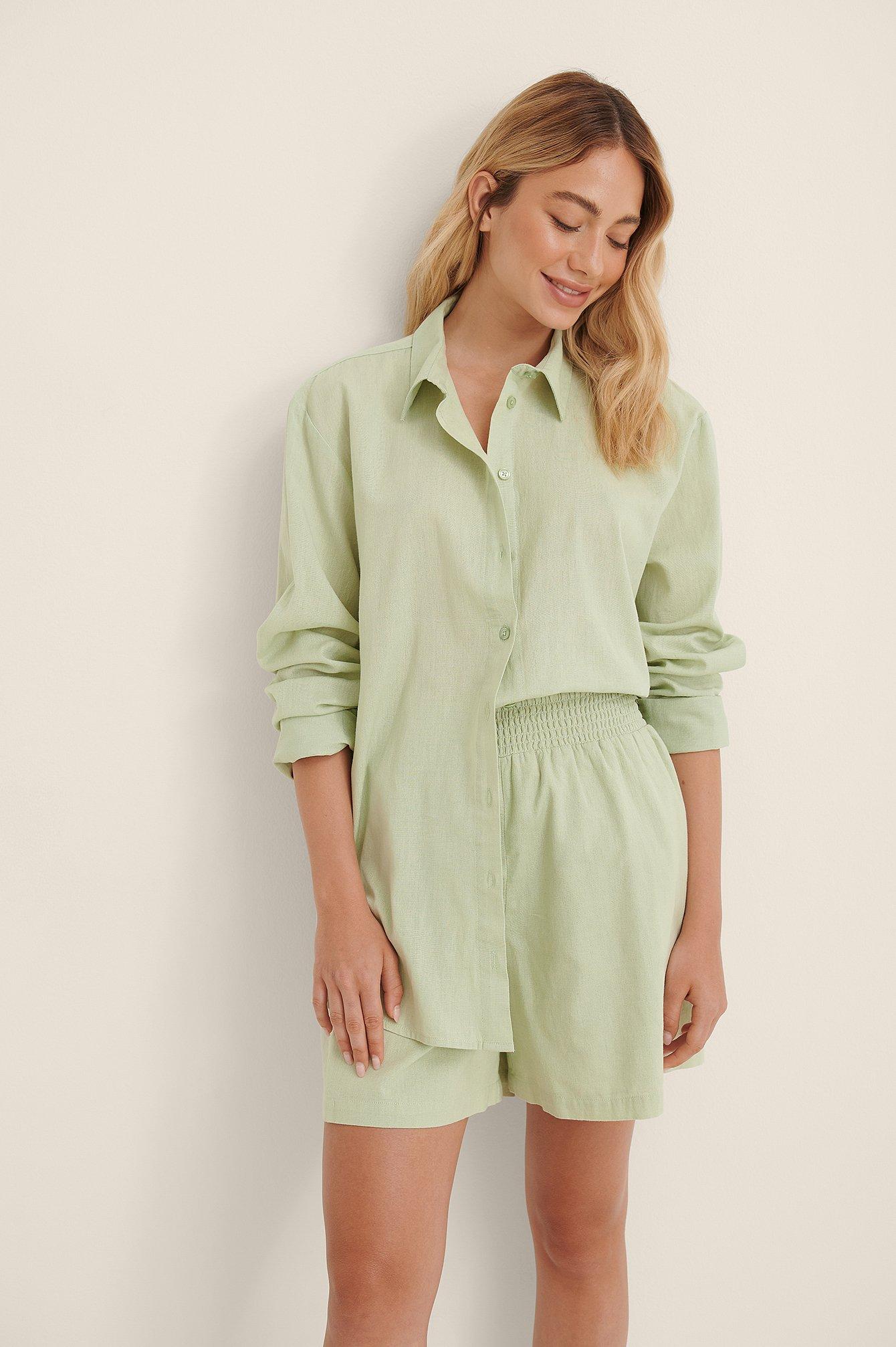 Linen Look Oversized Shirt $41.95